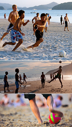 沙滩足球增进团队友谊,增进协作能力