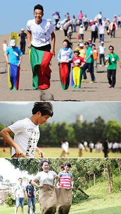 袋鼠跳是一项团队竞争与合作类项目