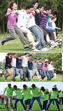 蛟龍出海是一項團隊競爭與合作類項目,培養學員間的默契度