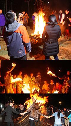 篝火晚會是集體戶外活動項目