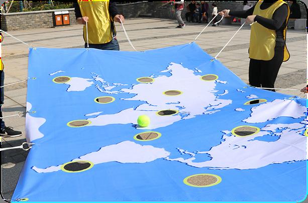 上海拓展訓練活動:世界球,玩轉世界地圖|